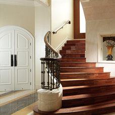 Mediterranean Staircase by Iwan Sastrawiguna Interior Design