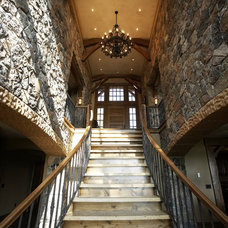 Rustic Staircase by Karen Hodgdon, Allied ASID