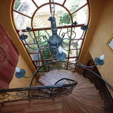 Mediterranean Staircase by Karen Schaefer Louw