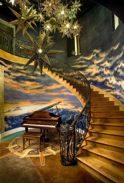 Eclectic Staircase by KuDa Photography