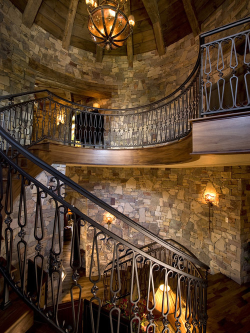 Inspiration For A Rustic Spiral Staircase Remodel In Minneapolis