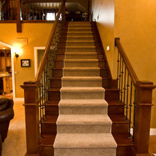 Traditional Staircase by Noah Herman Sons Builders
