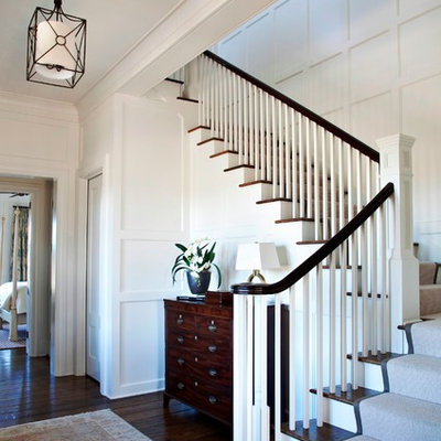 Wooden staircase photo in Charleston