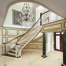 Traditional Staircase by Prestige Custom Building & Construction, Inc.