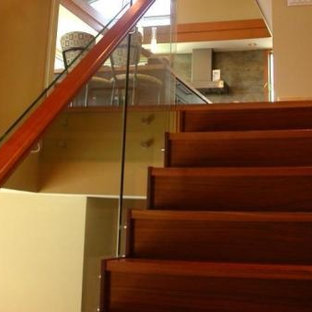 Example of a trendy staircase design in Vancouver