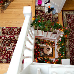 traditional staircase by Rikki Snyder