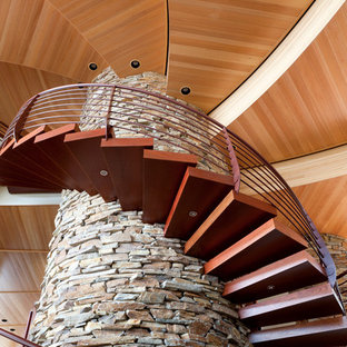 Inspiration for a modern staircase in Portland.