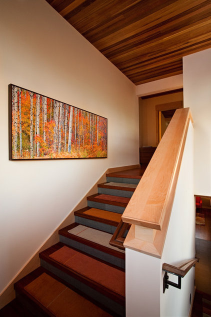 Rustic Staircase by Ryan Group Architects