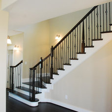 Traditional Staircase by Seaside Construction - Custom Home Builder