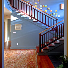Eclectic Staircase by Broadmore Builders, LLC