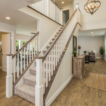 Staircase: Solana Beach Full Design, Addition, and Home Renovation