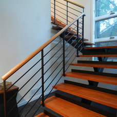 Contemporary Staircase by Choice Wood Company