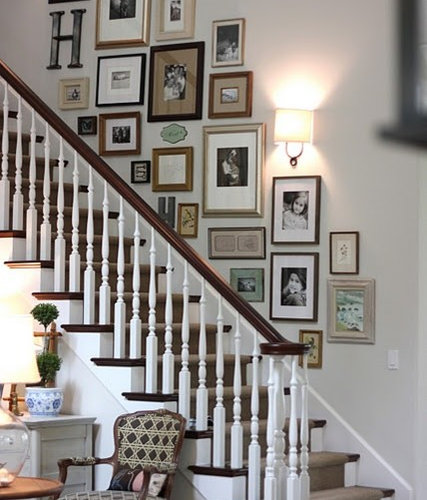 Staircase decor home design ideas pictures remodel and decor - How to decorate a staircase ...