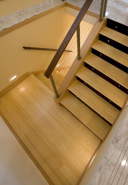 contemporary staircase by Broadmore Builders, LLC