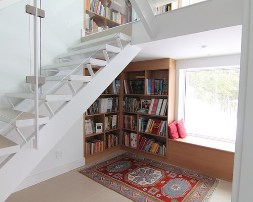 Inspiration For A Small Modern Wooden Staircase Remodel In Ottawa