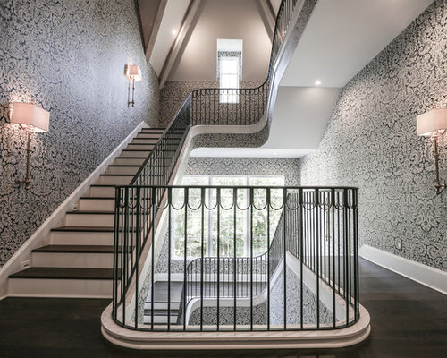 Traditional houston staircase design ideas remodels photos for Stair remodel houston