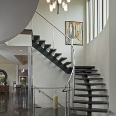 Contemporary Staircase by 4D Architects