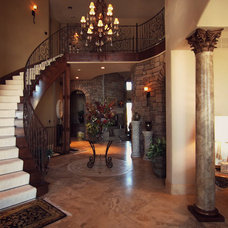 Traditional Staircase by Timber Ridge Properties