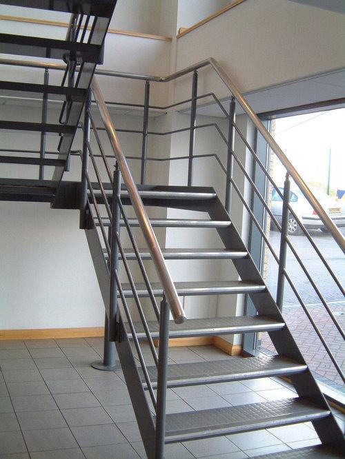 Mild Steel Staircase Design Ideas Renovations Photos