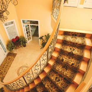 Staircase - traditional curved staircase idea in Other