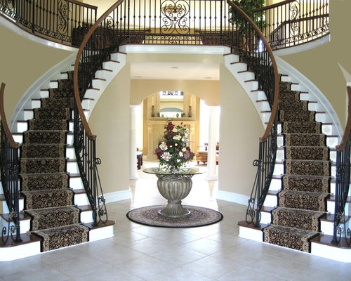 Double Staircase Home Design Ideas Pictures Remodel And Decor
