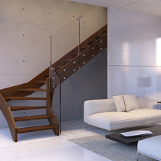 Modern Staircase by Stair Lab / Rintal USA