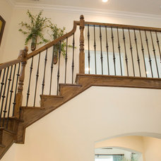 Traditional Staircase by IronWood Connection