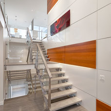 Modern Staircase by Habitat Studio