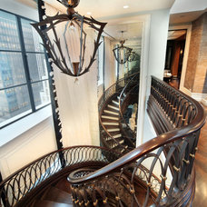 Traditional Staircase by NE&WS Metal Works, INC