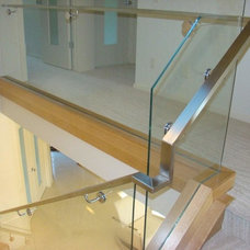 Modern Staircase by Another Dimension Custom Stainless Inc