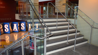 Stairs at Allen Fieldhouse, University of Kansas