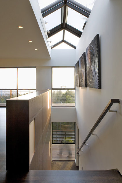 modern staircase by Camber Construction