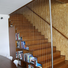 Midcentury Staircase by Celcon Construction