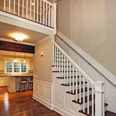 Farmhouse Staircase by Corbo Associates Inc.