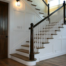 Traditional Staircase by David Watson Architects