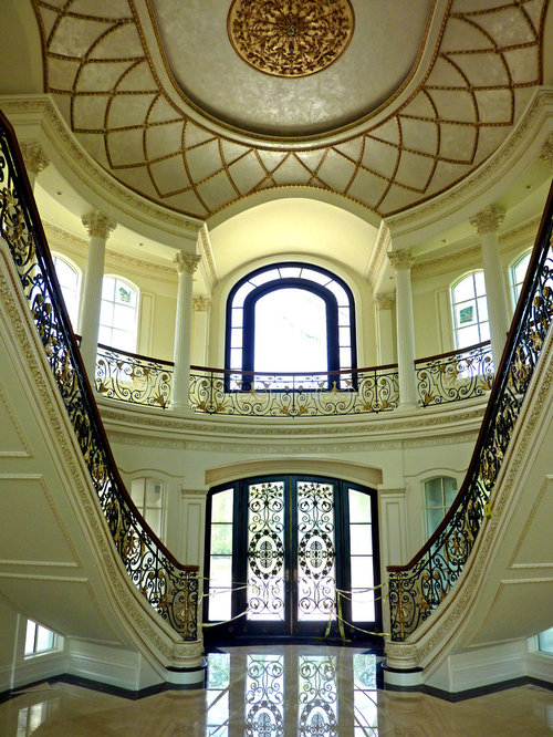 Foyer Architecture Reviews : Double bridal staircase houzz