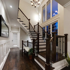 Contemporary Staircase by Evolution Design & Drafting