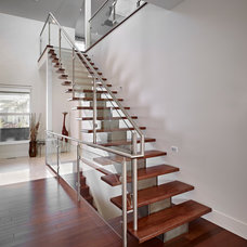Contemporary Staircase by Habitat Studio