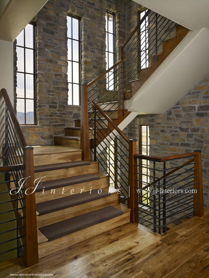 Contemporary Staircase by JJ Interiors