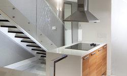 Stairs + Kitchen Island