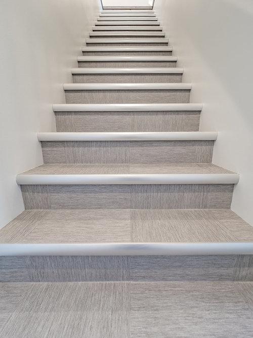 photos et id es d co d 39 escaliers scandinaves avec des marches en carrelage. Black Bedroom Furniture Sets. Home Design Ideas