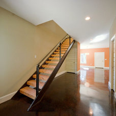 Modern Staircase by Modern Craft Construction, LLC