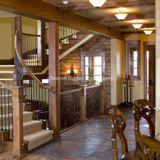 Eclectic Staircase by Rentfrow Design, LLC