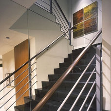 Contemporary Staircase by Garret Cord Werner Architects & Interior Designers