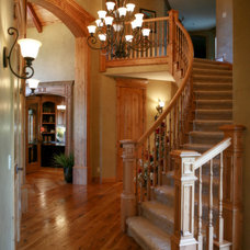 Traditional Staircase by Joe Carrick Design - Custom Home Design
