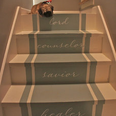 Eclectic Staircase by Bella Tucker Decorative Finishes