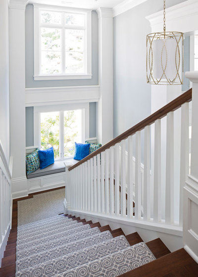 Transitional Staircase By Martha Ou0027Hara Interiors