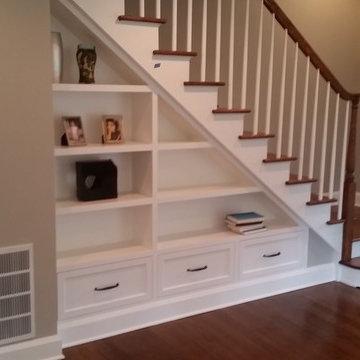 Stairway shelving