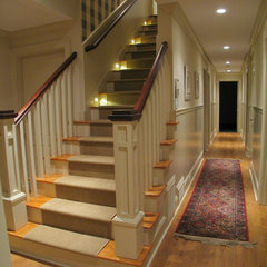 traditional staircase by Greg Mix - Registered Architect