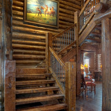 Traditional Staircase by Fine Wood Interiors